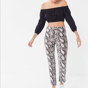 snake print pants. never worn